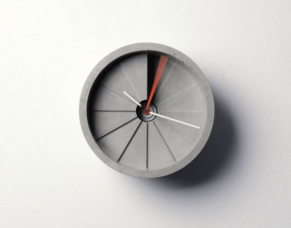 The Concrete Wall Clock
