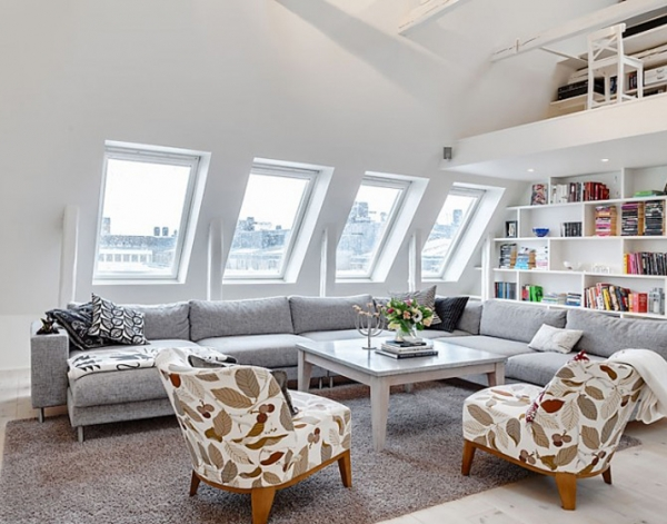 Bright Attic Penthouse