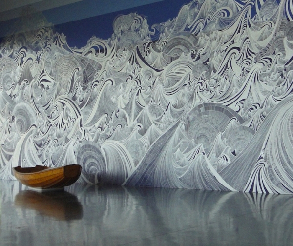 Massive Mural of Waves