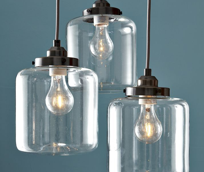 Jar Chandeliers by West Elm